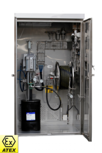 Pump Cabinet NC-2063 is designed for injection of grease into wellhead valves for oil and gas platforms from Norsecraft Tec AS