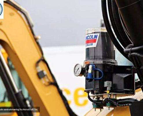 SKF Lincoln sentralsmøring for Anleggsmaskiner fra Norsecraft Tec AS